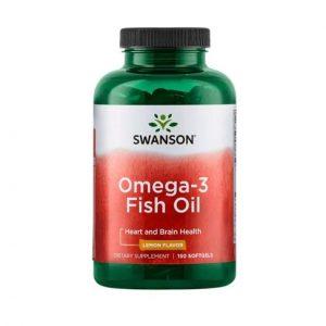 Swanson Omega-3 Fish Oil lemon flavor 150 softgel